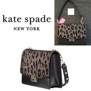 Nwts Kate Spade neve ocelot leopard purse